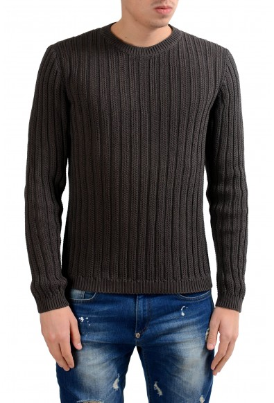 Malo Men's Crewneck Heavy Knitted Dark Gray Sweater