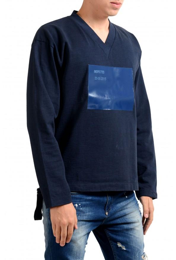 Jil Sander Men's Blue V-Neck Long Sleeve Sweatshirt: Picture 2