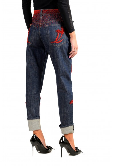 Prada Women's Blue Embroidered Straight Jeans : Picture 2