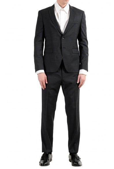 "Hugo Boss ""Reymond/Wenten"" Men's 100% Wool Plaid Dark Gray Two Button Suit"