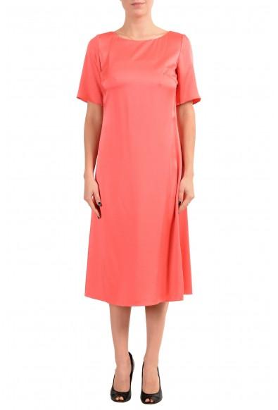 "Hugo Boss ""Dibeca"" Women's Peach 3/4 Sleeve Sheath Dress"