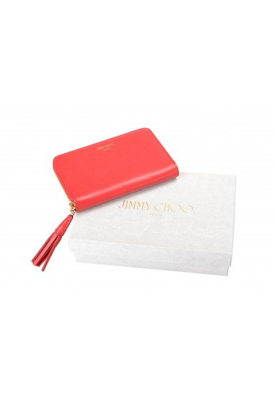 """Jimmy Choo Women's Red Leather """"ATHINI"""" Zip Around Wallet: Picture 2"""