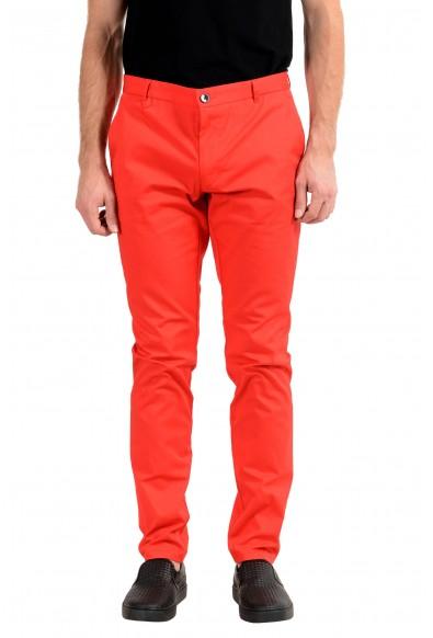 "Hugo Boss ""Heldor183"" Men's Red Stretch Casual Pants"