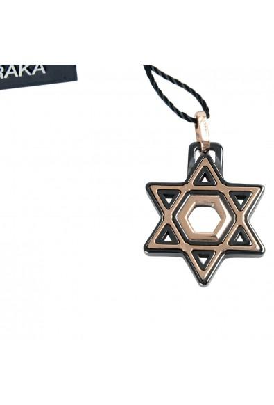 BARAKA Men's ST221521ROCB000000 Rose Gold Black Ceramic Star Of David Pendant