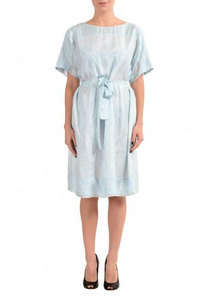 """Hugo Boss """"Demseey"""" Women's 100% Silk Belted Sheath Dress"""