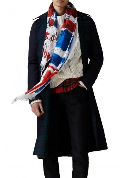 Burberry London Unisex Multi-Color Silk Cotton Scarf Shawl