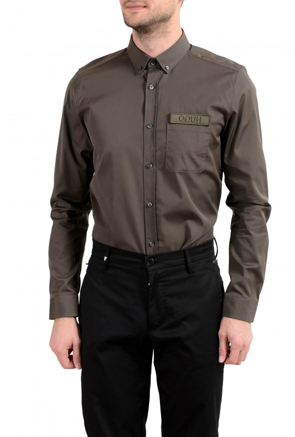 """Hugo Boss """"Emingway"""" Men's Straight Fit Long Sleeve Casual Shirt: Picture 4"""