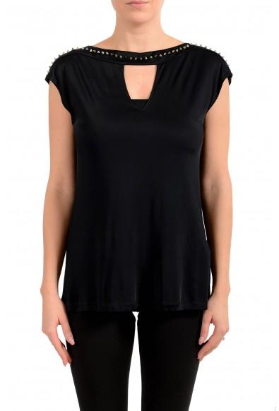 Versace Collection Women's Black Blouse Top