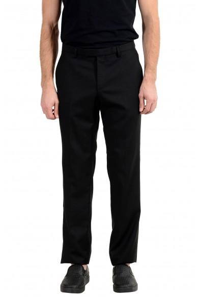 "Hugo Boss ""The James4/Sharp6"" Men's 100% Wool Black Dress Pants"