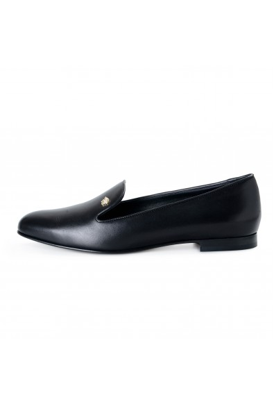 Versace Women's Black Leather Ballets Flat Shoes: Picture 2