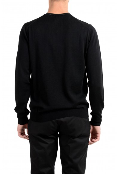 Roberto Cavalli Men's 100% Wool Black Crewneck Sweater: Picture 2
