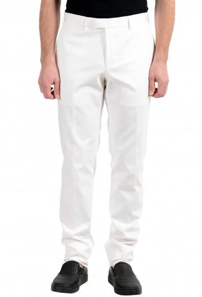 "Hugo Boss ""T-Gary1"" Men's White Slim Fit Stretch Casual Pants"