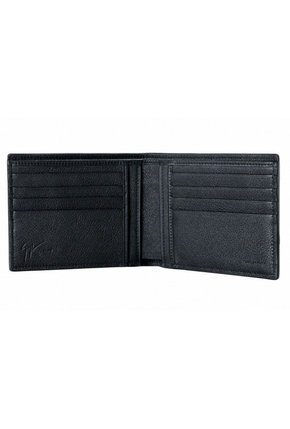 Giuseppe Zanotti Leather Black Gold Metal Beads Embellished Men's Bifold Wallet: Picture 2
