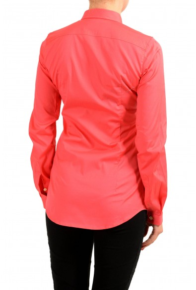 Dsquared2 Coral Red Long Sleeve Button Front Women's Shirt: Picture 2