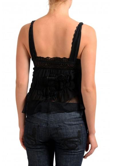 Maison Margiela 1 Black Sleeveless Women's Blouse Top: Picture 2