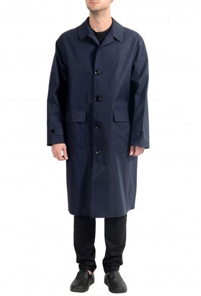 """Hugo Boss """"Garris"""" Men's Dark Blue Relaxed Fit Trench Coat"""