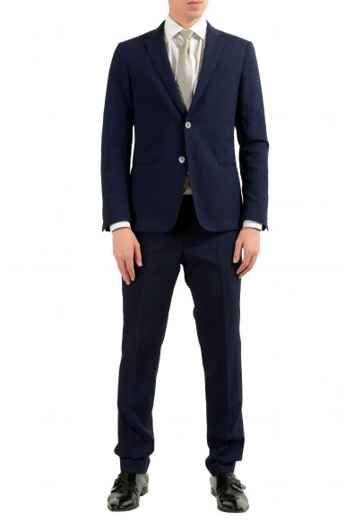 "Hugo Boss ""Nivan/Benno"" Men's Wool Blue Two Button Suit"