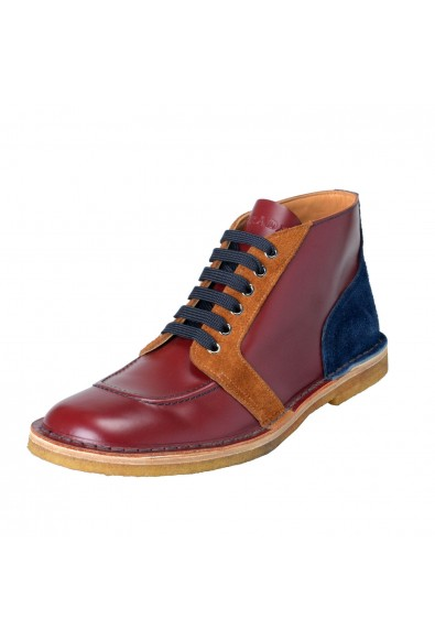 Prada Men's Multi-Color Suede Leather Ankle Boots Shoes