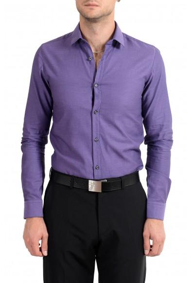 "Hugo Boss ""EagelX"" Men's Slim Fit Purple Long Sleeve Dress Shirt"