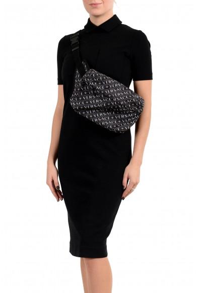 Versace Unisex Black & White Logo Belt Bag: Picture 2