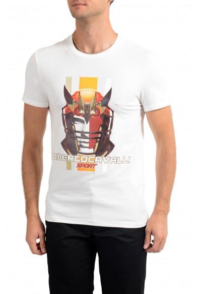 "Roberto Cavalli ""SPORT"" Men's White Graphic Stretch T-Shirt"