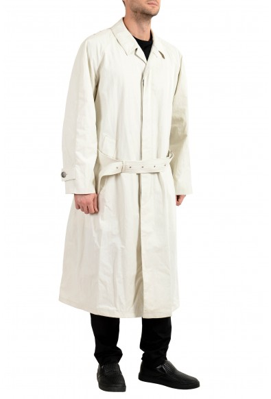 "Hugo Boss Men's ""HAITI_FS"" Stone Gray Belted Trench Coat: Picture 2"