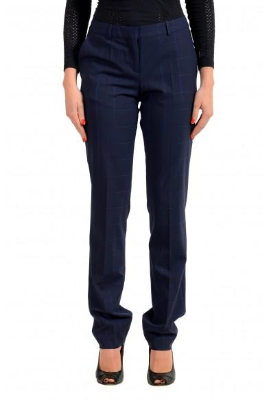 "Hugo Boss Women's ""Titana6"" Blue Plaid Dress Pants"