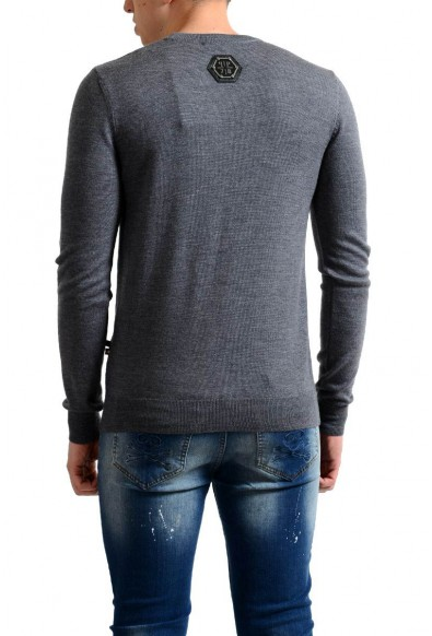 Philipp Plein Homme Limited Edition 100% Wool Men's Gray Sweater: Picture 2