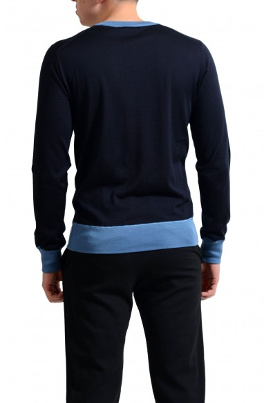 Dolce & Gabbana Men's Navy Blue Cashmere Silk V-Neck Sweater : Picture 2