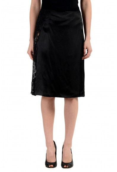 Versace Jeans Couture Women's Black A-Line Skirt