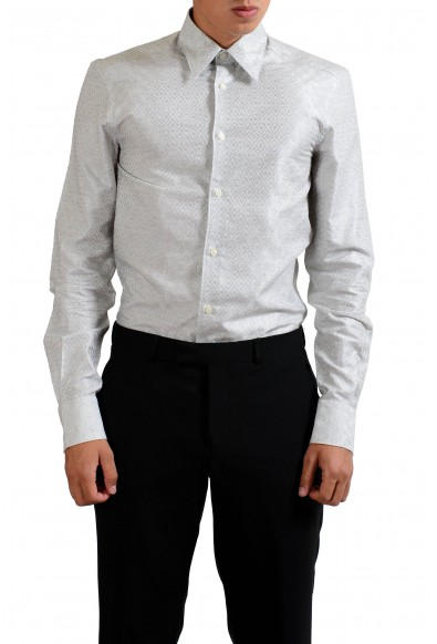 """Versace Collection """"Trend"""" Gray Patterned Men's Dress Shirt"""