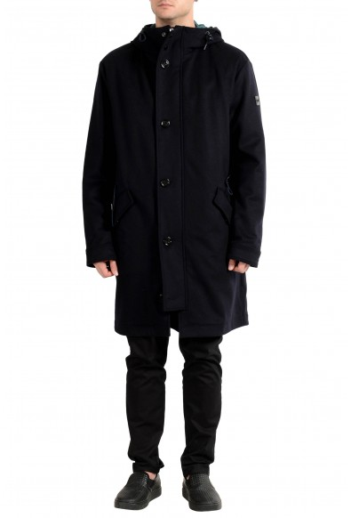 "Hugo Boss ""Crispin"" Men's Wool Cashmere Hooded Lined Coat"