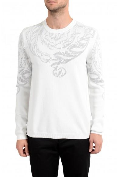 Versace Collection Men's White Designed Crewneck Sweater