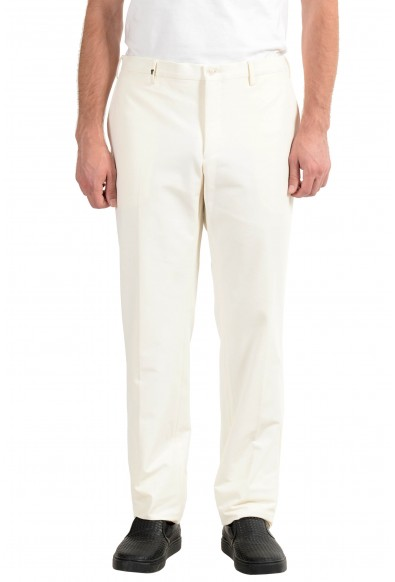 Versace Collection Men's White Stretch Casual Pants