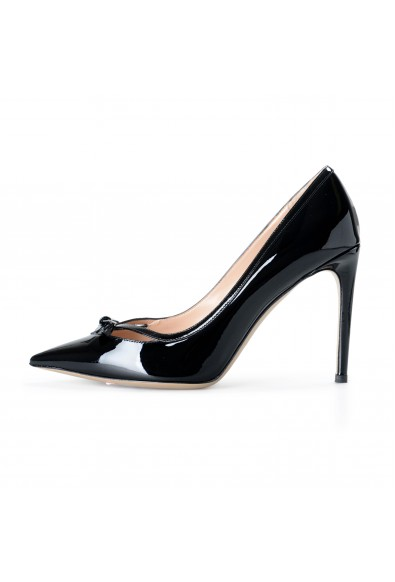 Valentino Women's Black Patent Leather High Heel Classic Pumps Shoes: Picture 2