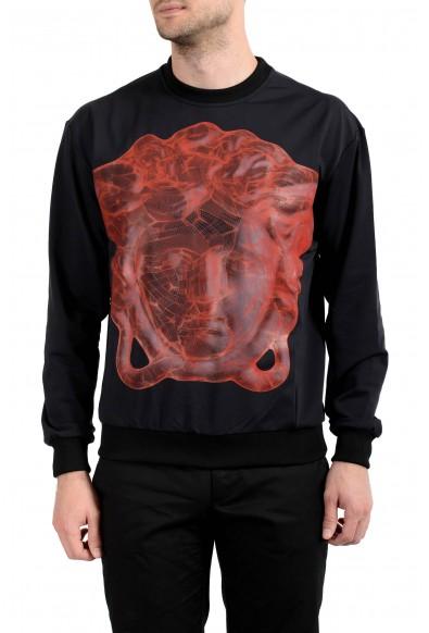 Versace Men's Graphic Black Crewneck Long Sleeve Sweatshirt