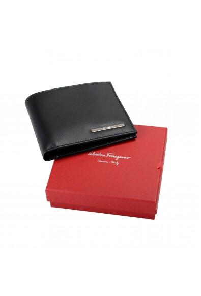 Salvatore Ferragamo Men's Black Logo Decorated 100% Leather Bifold Wallet: Picture 2