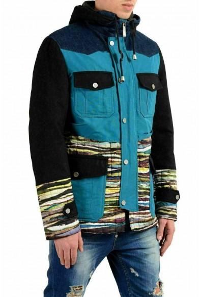 Just Cavalli Men's Multi-Color Full Zip Hooded Jacket: Picture 2