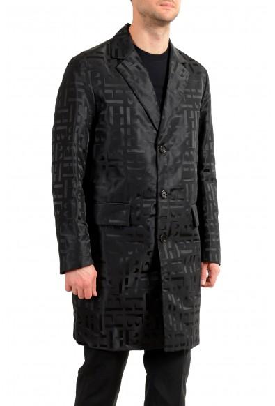 "Hugo Boss Men's ""Sasha2"" Black Slim Fit Button Down Coat: Picture 2"