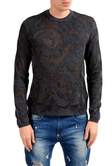 Versace Collection Men's See Through Crewneck Light Sweater