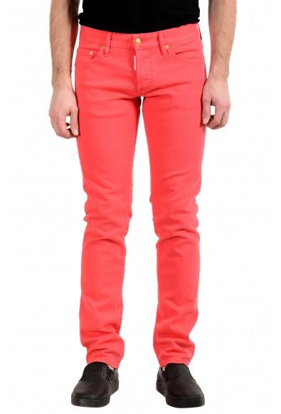 "Dsquared2 Men's ""Slim Jean"" Bright Pink Slim Jeans"