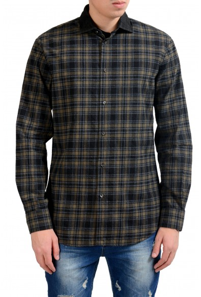 Dsquared2 Flannel Long Sleeve Men's Button Front Casual Shirt
