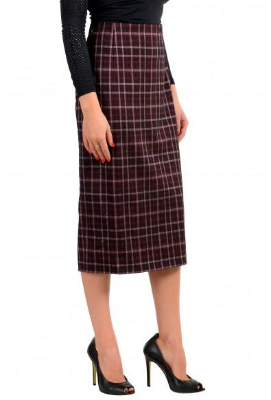 "Hugo Boss Women's ""Vecka"" Multi-Color Plaid Midi Pencil Skirt: Picture 2"