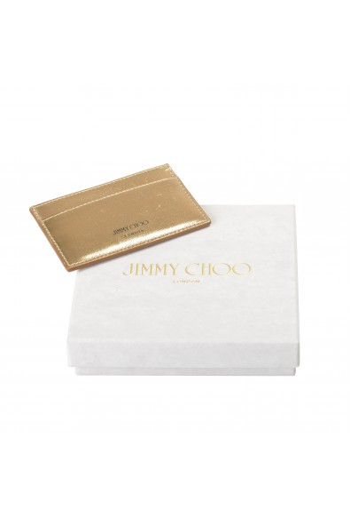 """Jimmy Choo Women's Gold Leather """"Athini"""" Card Holder: Picture 2"""