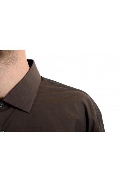 John Varvatos Trim Fit Brown Long Sleeve Men's Dress Shirt: Picture 2