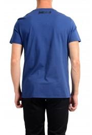 Just Cavalli Men's Blue Graphic Print Crewneck T-Shirt: Picture 5
