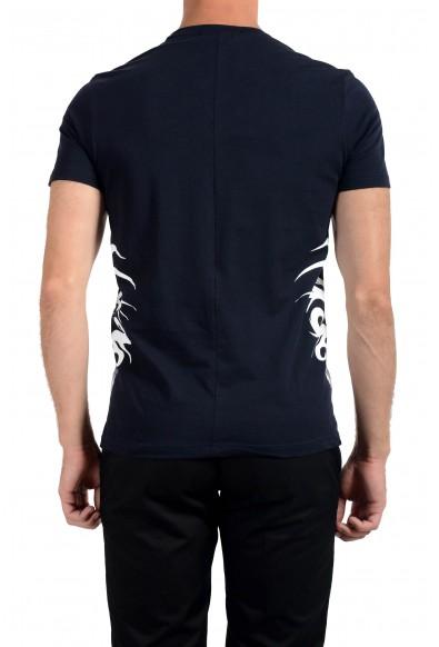 Roberto Cavalli Men's Navy Blue Crewneck T-Shirt: Picture 2