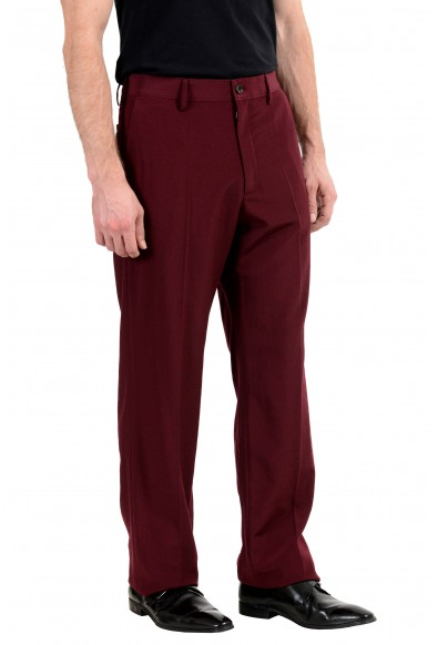 Gucci 100% Wool Burgundy Men's Casual Pants: Picture 2