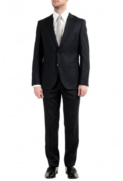 """Hugo Boss """"Johnstons3/Lenon1"""" Men's 100% Wool Dark Gray Striped Two Button Suit"""