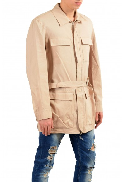 Malo Beige Full Zip Men's Basic Coat : Picture 2